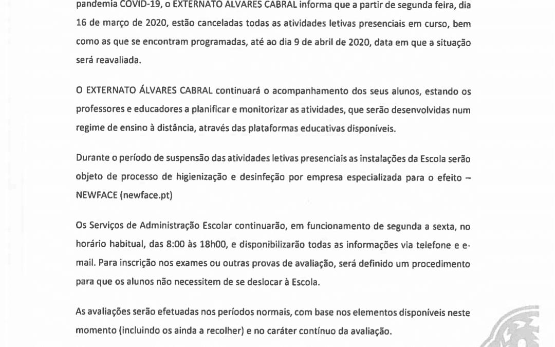 Comunicado EAC – 13.03.2020
