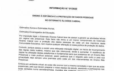 ENSINO À DISTÂNCIA E A PROTEÇÃO DE DADOS NO EXTERNATO ÁLVARES CABRAL